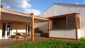Terrasse, pergola et cuisine d'été