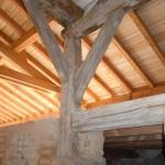 Assemblage réalisé avec vieux bois