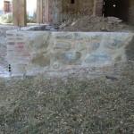 Muret en pierre rebâti dans l'esprit d'origine