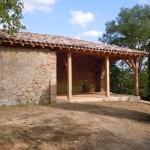 Terrasse créée dans ancienne partie écroulée