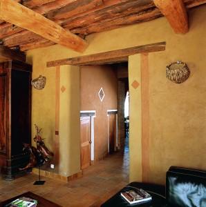 Création d'une ouverture, linteau en chêne vieilli