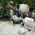 Préparation du mélange chaux chanvre