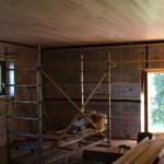 Doublage ossature bois, fibre de bois insufflée, frein vapeur hygrovariable