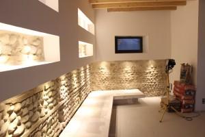 Mur foraine galet restauré à la chaux