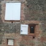 Restauration anciennes ouvertures, création niche pour compteur électrique