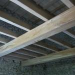 Structure plancher aspect vieux bois