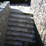 réalisation d'un escalier en pierre