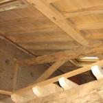 Charpente en peuplier et vieux bois
