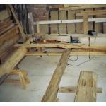 Insertion de vieux bois récupérés
