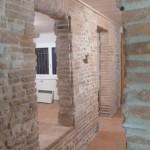Restauration mur brique à la chaux