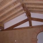 Ferme en chêne toiture peuplier