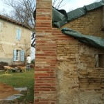 Briques foraines récupérées sur place